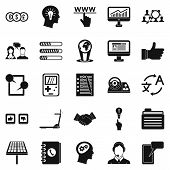 Seo Interface Icons Set. Simple Set Of 25 Seo Interface Icons For Web Isolated On White Background poster