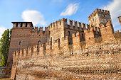 Medieval Scaligero Castle In Verona