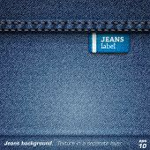 stock photo of stitches  - Jeans background - JPG