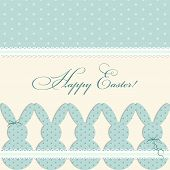 Cute Vintage Easter Card In Shabby Chic Style With Bunny poster