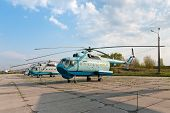 Several Mil Mi-14 Helicopters