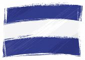 El Salvador national flag created in grunge style