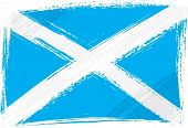 Scotland national flag created in grunge style
