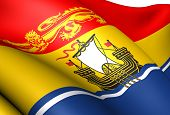 Flag Of New Brunswick, Canada.
