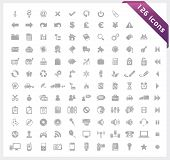 Grey set of 126 shiny icons