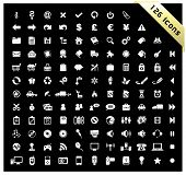 White set of 126 icons