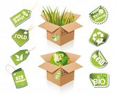 stock photo of recycled paper  - Paper box  - JPG