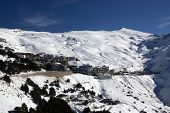 Horizontal view of a spanish resort station, Prado Llano, Sierra Nevada.