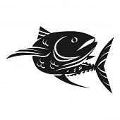 Sea Tuna Fish Icon. Simple Illustration Of Sea Tuna Fish Vector Icon For Web Design Isolated On Whit poster