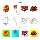 Isolated Object Of Confectionery And Culinary Logo. Set Of Confectionery And Product Vector Icon For poster