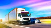Commercial Transport .  Truck Transport Container . Commercial Transport .  Truck Transport Containe poster
