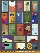 Contemporary Vector Card Designs
