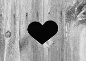 Heart Shape On Wood