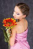 Toga und Sonnenblume