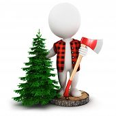 3d white people lumberjack