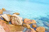 Rocks In Clear Turquoise Water