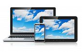 image of reflections  - Cloud computing technology service concept - JPG