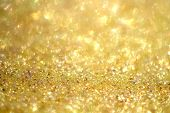 pic of gold glitter  - magical golden gold yellow glitter sparkles background - JPG