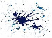 Blue Splash Painting
