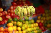 Tropical banana no bazar Local na Índia.