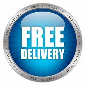 Free delivery glossy icon