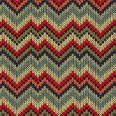 Style Seamless Knitted Pattern. Red Blue Brown Yellow Orange Green Color Illustration From My Large