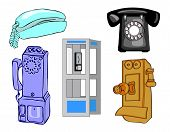 Full Page Of Telephones and phone booth