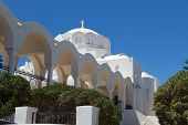 Greek Church On Santorini