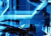 Blue Abstract Hi-tech Concept