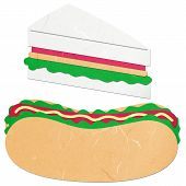 Rice Paper Cut Hotdog And Sandwich