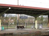 train platform at Sarrebourg