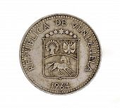 Venezuela Five Centimos Coin 1964
