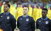Joleon Lescott, John Terry And  Danny Welbeck Of England