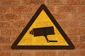 Cctv Sign On Brick Wall