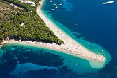 Aerial photograph of Zlatni Rat beach