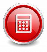 calculator red button - design web icon