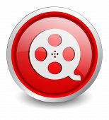 film red button - design web icon