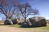 Three Maidens Rocks At Pipestone