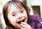 pic of playgroup  - Portrait of beautiful funny young girl on the street - JPG