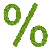 A Four Leaf Clove Of Percentage Sign