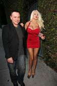 LOS ANGELES - JUL 12:  Doug Hutchison, Courtney Stodden at the  Dave Stewart: Jumpin' Jack Flash & The Suicide Blonde Photo Exhibit at the Morrison Hotel Gallery on July 12, 2013 in West Hollywood, CA
