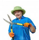 Woman With Garden Shears