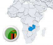 Zambia On Africa Map