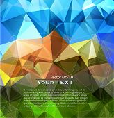 Mountain abstract geometric background