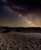 Milky Way Over The Desert