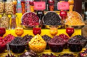 stock photo of tehran  - Dried fruit for sale in Tehran Iran - JPG