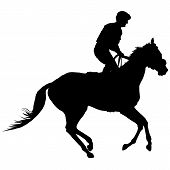 Jockey-Silhouette