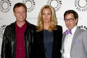 LOS ANGELES - 16 de JUL: Don Roos, Lisa Kudrow, Dan Bucatinsky chega em