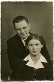 POLAND, CIRCA 1938 - Vintage photo of couple, Poland, circa 1938