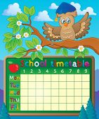 School timetable theme image 5 - eps10 vector illustration.